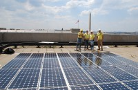 Standard Solar's first commercial installation at the Department of Energy in Washington, D.C., in July 2008.