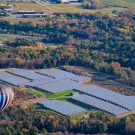 With the addition of Renusol GmbH and Renusol America to its portfolio, Cincinnati-based RBI Solar, already a leader in ground mount solar, expands into the roof mount market. Pictured here is a completed RBI Solar project in White River Junction, Vermont. It is a 2.54 MW ground mount array with 10,270 solar modules.