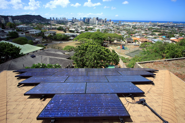 hawaii solar panels roof mount