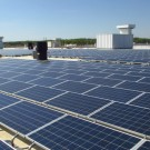 A 580 kilowatt solar array was recently added to the roof of Baltimore Operation's e-Motor building, where electric motors and drive units for the Chevrolet Spark EV are built. This new array is made up of approximately 2,420 panels and covers 87 percent of the e-Motor building's roof.
