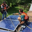 NFL linebacker joins NRG Home Solar to surprise local family