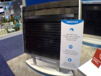 CertainTeed booth shows off enhanced Solstice rack-mounted PV system