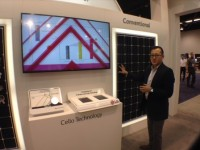LG's new lineup of high-efficiency NeON panels on the scene at SPI