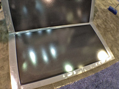 HULKet's new Prometea panel is flexible and likely to be adopted in curved architectural applications.