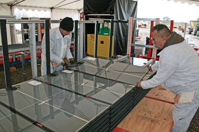The panelization assembly cell in action.
