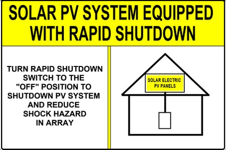 RAPID SHUTDOWN 2017 DANGER PV RES 16 nec 2017 revisions new pv labels, rapid system shutdown Typical Solar Panel Wiring Diagram at crackthecode.co