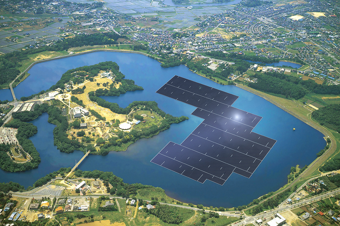 floating solar rendering
