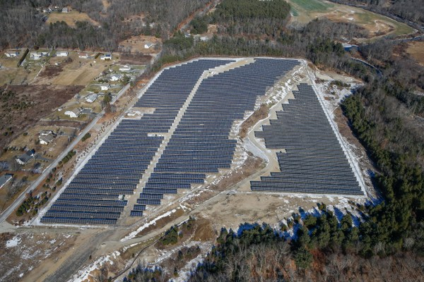 Massachusetts brownfield solar array