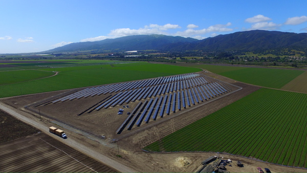 This ag solar project is the largest net-meter install in California's Monterey County