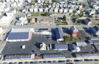 Roof Tech mounts used for first time on commercial project by Acushnet Alternative Heating