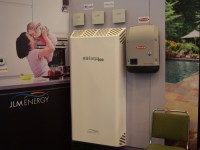 The JLM technology on display at Intersolar.