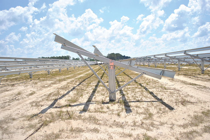 New RBI Solar ground-mount uses less steel