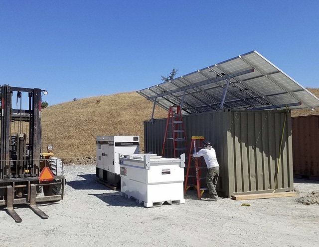 solar+storage microgrid