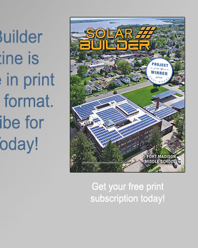 Subscribe to Solar Builder Print