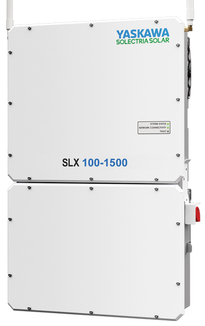 Yaskawa-Solectria's SLX 1500 line and Wireless Mesh network eliminates the need for communication wiring, reducing communications and BOS cost.