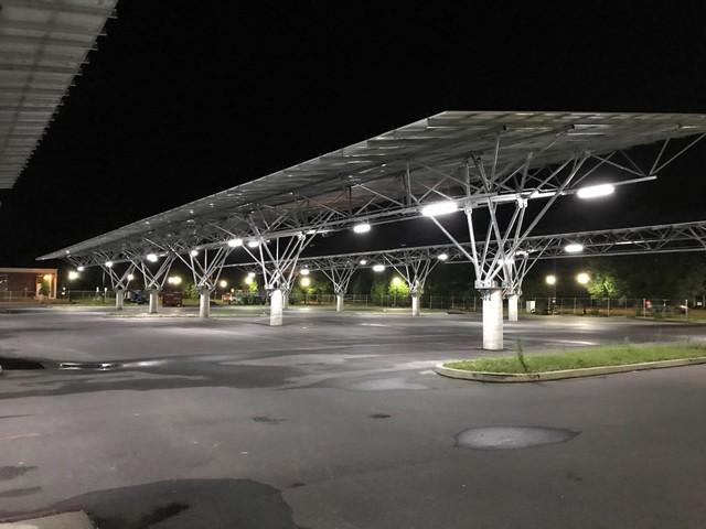 Standard solar university parking canopy
