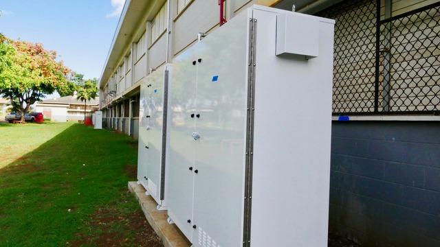 Waialua Energy Storage Cabinet closed