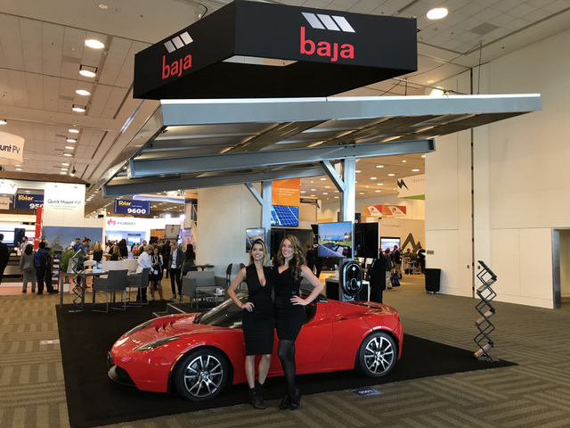 Baja Carports InterSolar 2017 Booth Models