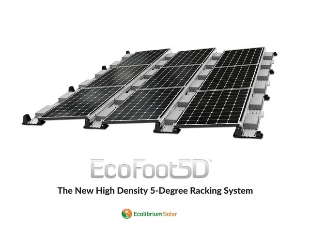 EcolibriumSolar-The New High Density 5-Degree Racking System