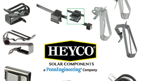 Heyco solar rail clips