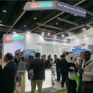 Sungrow booth at WFES 2018 (PRNewsfoto/SUNGROW Power Supply Co., Ltd)