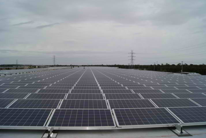 Rubberecycle Installs 1.1-MW Rooftop System at Rubber Mulch Warehouse