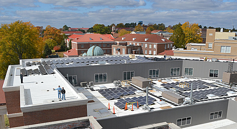 University of Mississippi Installs 107-kW Rooftop Array