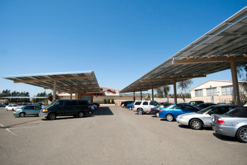 1-MW Solar Canopies Installed at School District by Chevron