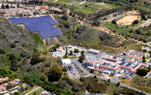 In May, California's Santa Barbara County dedicated a 1-MW solar array at its Camino Real campus, home of its jail, sheriff's department, three public hospitals and several administrative offices. Photo courtesy of Endelos Energy.