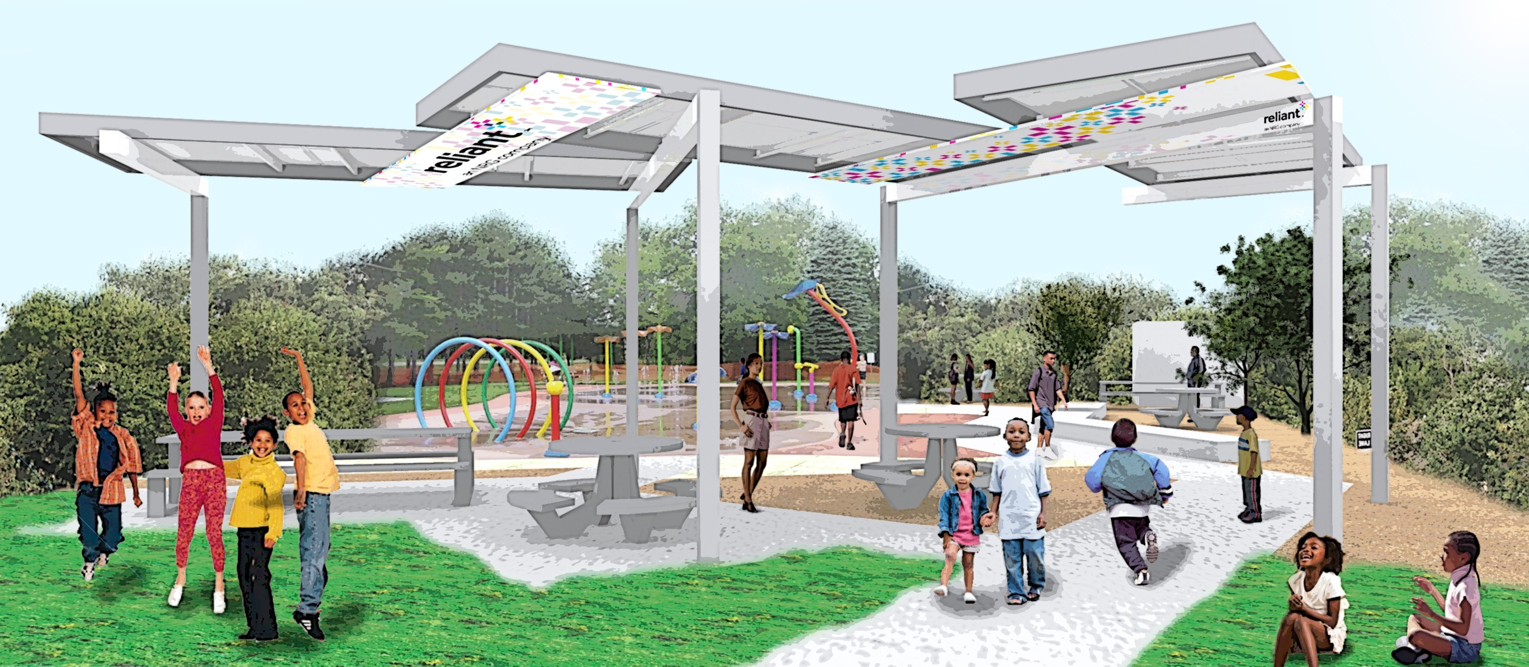 Reliant Planning Solar-Powered Splash Pad for Houston