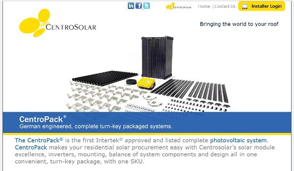 Centrosolar Introduces Online Tool for Solar Installers