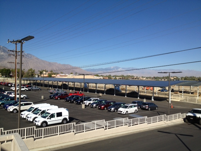 Carports Installed at California Car Dealer