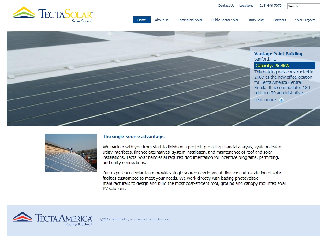 Tecta Solar Launches New Website