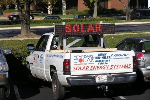 Standard Solar's first truck in 2006.