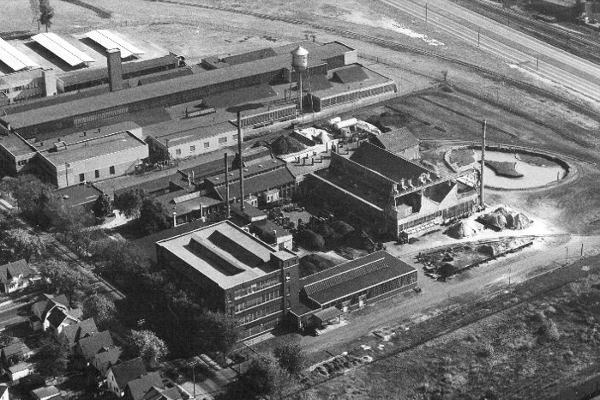 From Elevators to Energy: Before becoming home to 2.1 MW of solar energy for the Toledo Zoo, the plot of land housed Haughton Elevator Co., which was founded in Toledo in 1867. After moving to the site near Anthony Wayne Trail in 1916, it was the third largest elevator company in the country — behind Otis and Westinghouse. Eventually it was acquired by Schindler Group before the company closed the doors to the 250,000-sq-ft headquarters and plant in 1989.  Photo source: Haughton Elevator Co. Facebook page