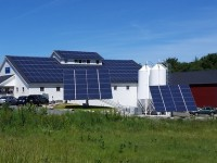 Two 6.2 kW AllEarth Solar Trackers in a 55.12 total kW solar array produce energy for the Maine Beer Company in Freeport, Maine.