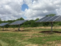 Project: Illinois homeowners install three ground-mount, solar trackers