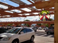 Check out the design of this cool carport install at a New Mexico golf club