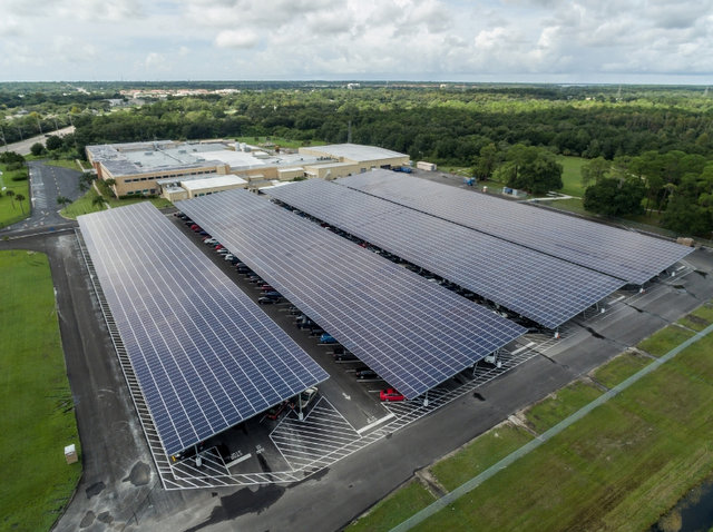 See Florida S Largest Private Solar Carport Solar Builder
