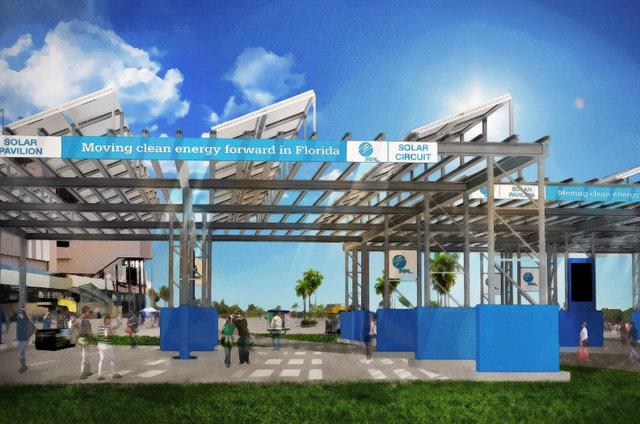 Florida speedway solar carport