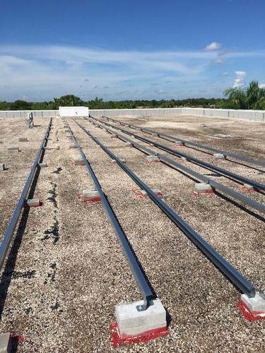 adhered ballast roof mount
