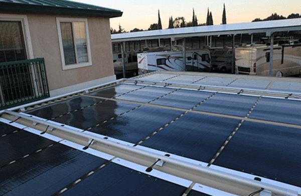 Existing Carport Retrofitted With Miasole Flex Solar Modules