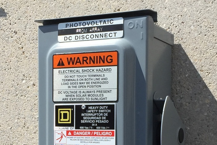 DC Disconnect label