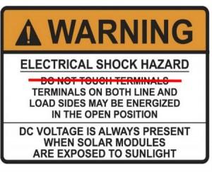 PV code warning NEC