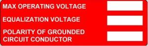 PV labels NEC