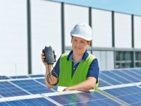 Solarcheck Rapid Shutdown device is integrated directly onto the panel