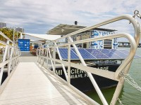 New floating marine science barge in Miami powered by PV