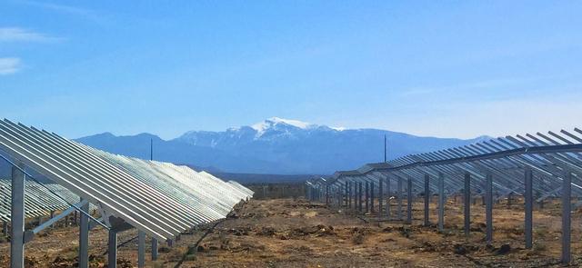 Pahrump solar flex rack mounting