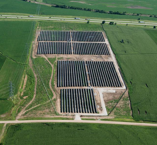 Solar FlexRack TDP Trackers Installed In Holdrege 5MW Solar Project Near Lincoln Nebraska