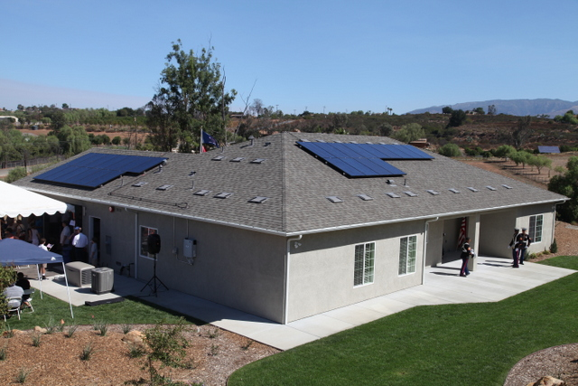 solar homes for troops